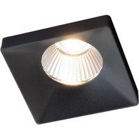 GF design Squary recessed lamp IP54 black 2,700 K