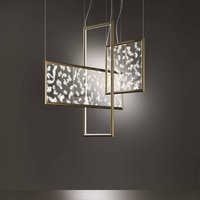 OLEV Poly Plumage LED hanging lamp  real feathers