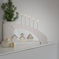 LED candle arch shooting star made of wood