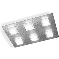 GROSSMANN Basic LED ceiling light 6 bulb aluminium