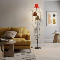 Melis - 5-flammige Stoff-Stehlampe fürs Wohnzimmer