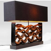 KARE Nature Wave table lamp  wood and fabric