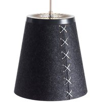 Pendant light Fl r made of wool felt graphite