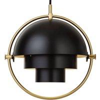 GUBI Multi Lite hanging lamp 25 5 cm brass black
