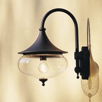 Libra outdoor wall light  curved arm  black