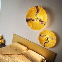 KOLARZ Luna Kiss Gold wall light 24 carat Ø 89cm