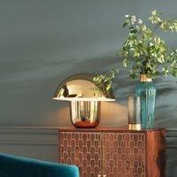 KARE Mushroom table lamp in a mushroom shape  gold