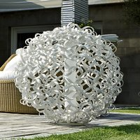 Salsola designer light for outdoors  white  48 cm