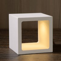 Cube shaped Xio LED table lamp