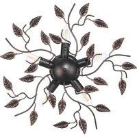 Cernecchio ceiling light  five bulb  bronze