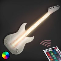 Guitar   white LED wall light  3D print