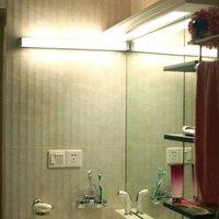 512 LED mirror light  4 000 K  35 cm  silver