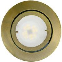 Pivotable LED recessed light Joanie  antique brass