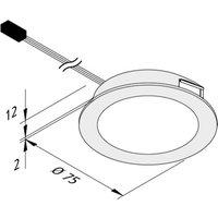 Dynamic FAR 68 LED furniture light steel 3 W CCT