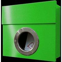 Letterman I designer letterbox  green