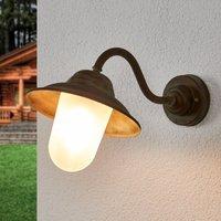 Curved outdoor wall light Birga