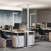 Somidia LED office floor lamp dimmer sensor white