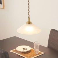Saturn Hanging Light Adjustable in Brass Look