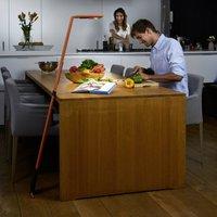Luctra Flex LED floor lamp wireless battery orange