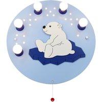 Polar Bear wall light  light blue  five bulb
