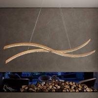 Curved LED hanging light Live S160