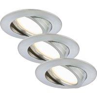 Set of three   LED recessed light Bert  pivotable