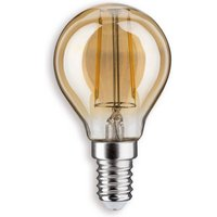E14 2 5 W 825 LED golf ball bulb gold