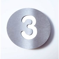 Stainless steel house number Round   3
