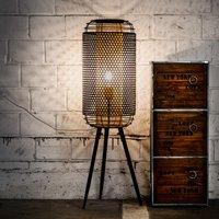 Denton floor lamp  tripod  Metal lampshade