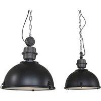 Bikkel pendant light 2 bulb  black