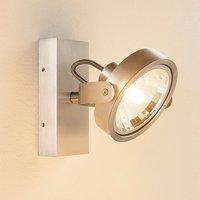 Lieven aluminium coloured LED spotlight