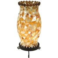 Lámpara de mesa Enya crema-marrón