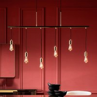KARE Pole Brass Six   glossy hanging light