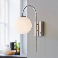 Balloon wall light with plug  1 bulb  chrome