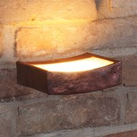 LED wall light Dolce in rust look  13 cm wide