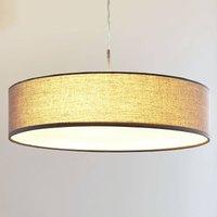 Sebatin grey fabric pendant lamp with E27 LEDs
