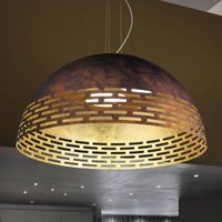 LED hanging light Greka in rust and gold