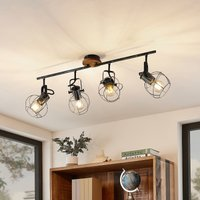 Lindby Salima ceiling spotlight, cages, 4-bulb