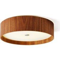 Walnut ceiling light Lara wood with LED 43 cm