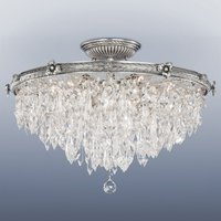 Semi flush ceiling light Samara with crystals