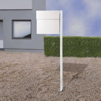 Letterman IV free standing letterbox white