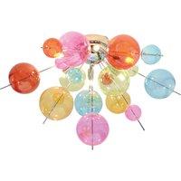 Aurinia ceiling light   57 cm colourful lampshades