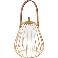Levik table lamp with a golden cage