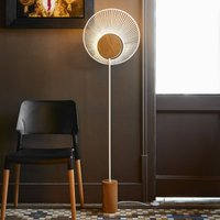 Forestier Oyster designer floor lamp  white