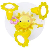 Sun with Flower ceiling lamp  3 bulb  yellow white