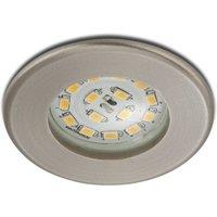Efficient LED recessed light Nikas IP44  nickel