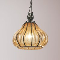 Carro   curved glass hanging light