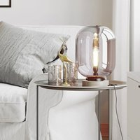 By Ryd ns Leola Glass Table Lamp in Smoke Grey