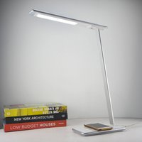 Orbit LED desk lamp with induction  silver