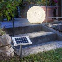 Mega Stone 40   modern spherical LED solar lamp